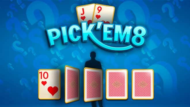 Выберите первую карту в Pick'em holdem